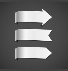 set of white decorative arrows vector image
