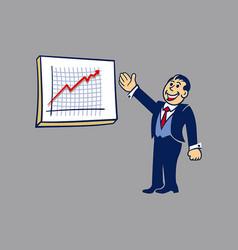 Simple businessman presentation vector