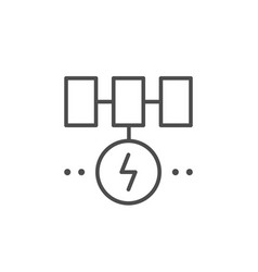 solar energy system line outline icon vector image