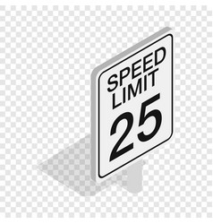 speed limit road sign isometric icon vector image