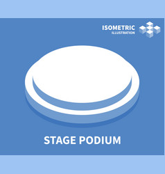 stage podium icon isometric template vector image