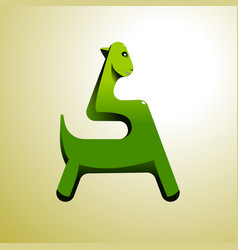 stylized green dinosaur can be used as an vector image
