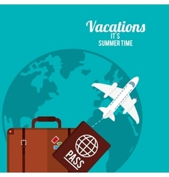 Summer vacations design vector