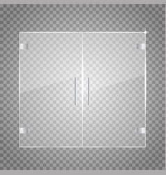 Transparent Glass Door Vector ...
