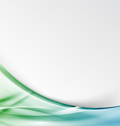 Transparent modernistic green swoosh wave folder vector image