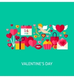 Valentines Day Greeting Poster vector image