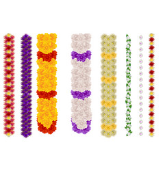 vertical flower garland for indian holiday ugadi vector image