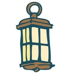 Vintage Marine Lantern vector image