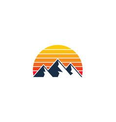 Warm mountain logo icon design vector