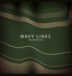 Wave lines pattern an abstract stripe background vector