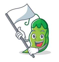 with flag peas mascot cartoon style vector image