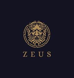 zeus god logo icon lopiter logo jupiter logo vector image