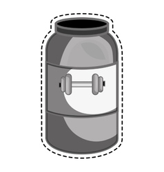 bottle protein gym product vector image
