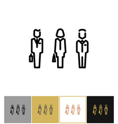 businessman signs icon or business persons vector image vector image
