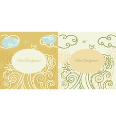 cartoon floral backgrounds vector image