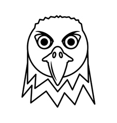 eagle head face icon vector image