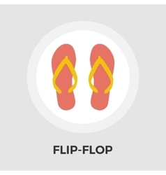 Flip-Flop flat icon vector image