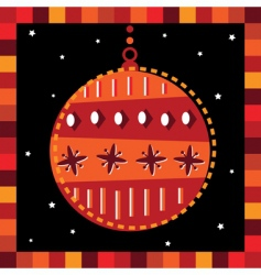 funky bauble greeting card vector image