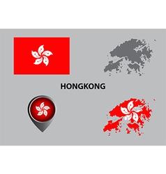 Map of Hongkong and symbol vector image vector image