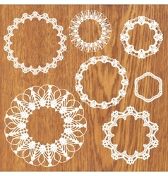 Set of crochet lacy frames vector image