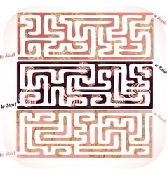Set of lolipop maze vector image