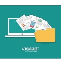 Spreadsheet design technology and infographic vector image