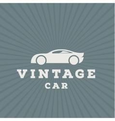 Vintage car flat high-quality logo trend vector image