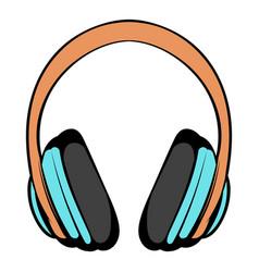 big headphones icon cartoon vector image vector image
