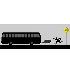 Chasing The Bus vector image vector image