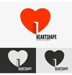 Heart with door vector image vector image