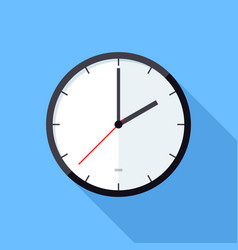 clock icon flat design icon vector image