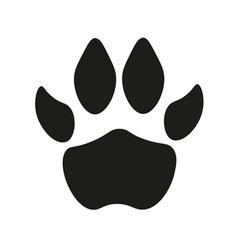 Dog paw print vector image