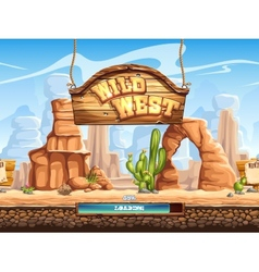 Example of the loading screen for a computer game vector image vector image