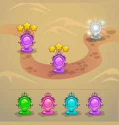 game map with level rank indicators vector image