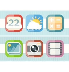 Mobile phone applications black icons set vector image