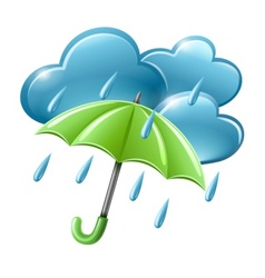 rainy weather icon with vector image vector image