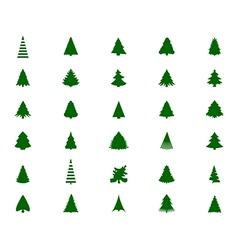 Christmas tree silhouette vector image