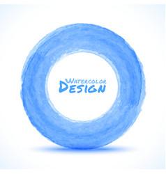 Hand drawn watercolor blue light circle design ele vector image vector image