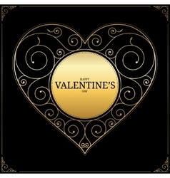Valentines Day heart love symbol sign or logo vector image vector image