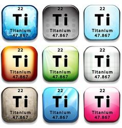 A button showing the element Titanium vector