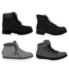 A set of shoes casual gray shoes eps 10 vector