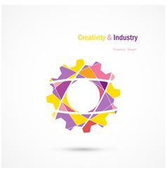 abstract industrial logo design vector image