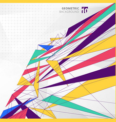 abstract modern geometric colorful and lines vector image