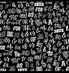 Ampersands and words lettering seamless pattern vector