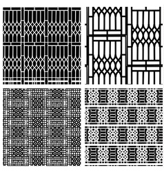 Black and white seamless pattern of curved steel vector image