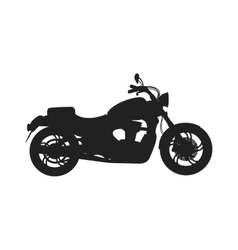 Black classic bike silhouette transport power vector image