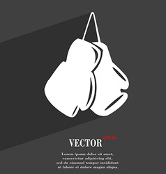 Boxing gloves symbol flat modern web design with vector