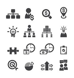 Business and management icons vector image