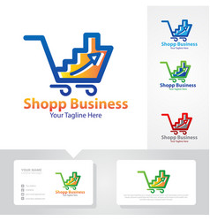 Business up shop logo vector