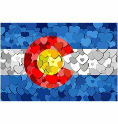Colorado made of hearts background vector